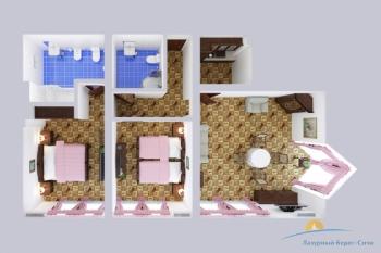 2-мест 3-комн Апартамент  - схема.jpg