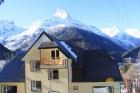 Вид на отель и горы