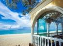 вид с террасы на пляж