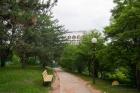 Фасад санатория и парк